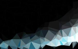 capa de poli baixa vector azul escuro.