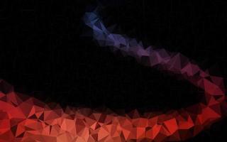 capa de poli baixa de vetor de azul escuro e vermelho.