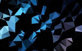 layout poligonal abstrato de vetor azul escuro.