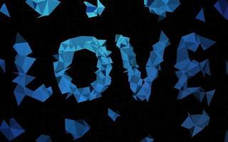 capa de mosaico de triângulo de vetor de azul escuro.