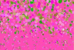 padrão de vetor rosa claro verde com círculos curvos.