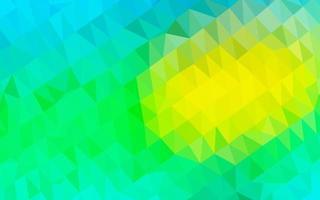 textura de mosaico de triângulo de vetor azul claro e amarelo.