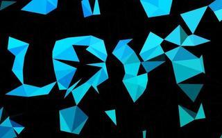 luz azul, verde vetor brilhante fundo triangular.