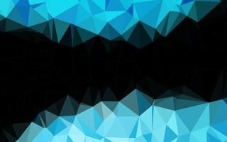 modelo triangular brilhante vetor azul claro.