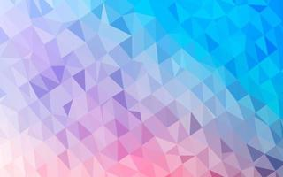 fundo abstrato do polígono do vetor azul, vermelho claro.