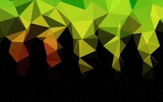 luz verde e vermelho vetor brilhante padrão triangular.