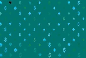 de fundo vector azul, verde claro com sinais de cartões.