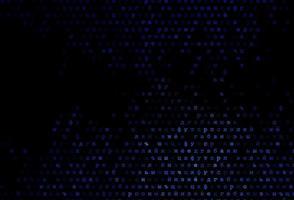 modelo de vetor azul escuro com letras isoladas.