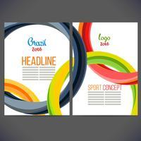 Folheto de esportes de conceito de cor vetor