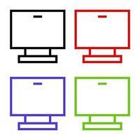 computador ilustrado em fundo branco vetor