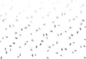 padrão de vetor de luz roxa com elementos de música.