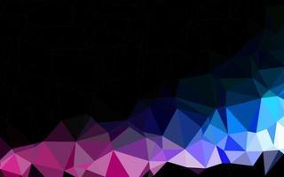 luz de fundo poligonal vector azul e vermelho.