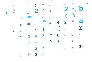 fundo azul claro do vetor com símbolos dos dígitos.