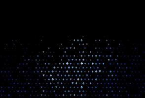 padrão de vetor azul escuro com símbolo de cartas.