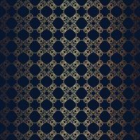 Vector linha floral estilo fundo preto, padrão de design de monograma sem emenda