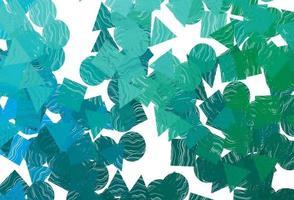 textura vector azul, verde claro em estilo poli com círculos, cubos.