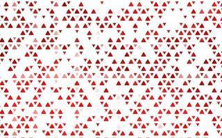 pano de fundo vector vermelho claro com linhas, triângulos.