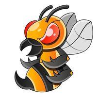 ícone de vetor plano de abelha ou vespa para aplicativos