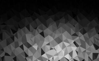 modelo de triângulo embaçado vetor cinza escuro prata.
