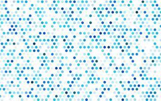 padrão de vetor azul claro com hexágonos coloridos.