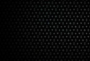 capa de vetor preto escuro com símbolos de aposta.