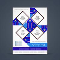 Modelo de folheto de negócios abstratos vetor