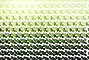 fundo do vetor verde claro com formas de lâmpada.