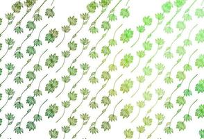 capa de desenho de vetor verde claro.