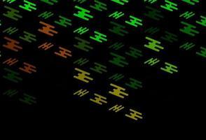 textura vector verde e vermelho escuro com linhas coloridas.