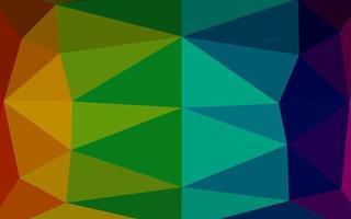 layout abstrato de polígono de vetor de arco-íris multicolorido escuro.