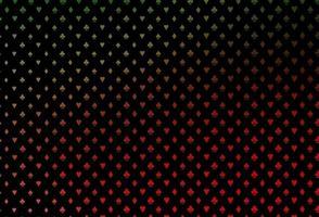 capa de vetor verde e vermelho escuro com símbolos de aposta.