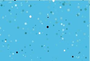 modelo de vetor azul claro com cristais, círculos, quadrados.