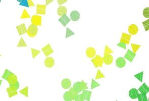 capa de vetor verde e amarelo claro em estilo poligonal com círculos.