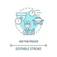 ajuda o ícone do conceito de polícia vetor