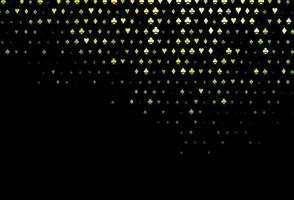 fundo vector verde e amarelo escuro com sinais de cartões.