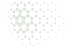 padrão de vetor verde claro com esferas.