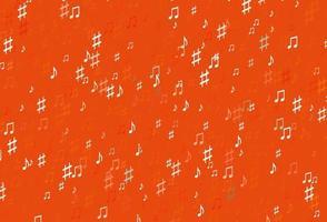 modelo de vetor laranja claro com símbolos musicais.