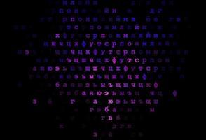 modelo de vetor rosa escuro, azul com letras isoladas.