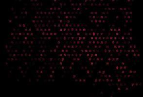 padrão de vetor rosa escuro com símbolos abc.
