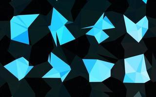 capa poligonal do sumário do vetor azul claro.