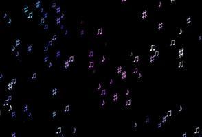 textura vector rosa escuro, azul com notas musicais.