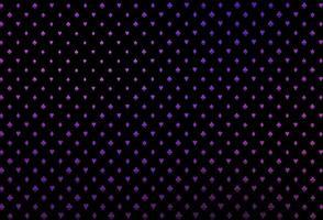 capa de vetor rosa e azul escuro com símbolos de aposta.