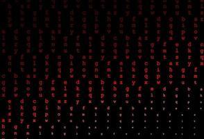 padrão de vetor vermelho escuro com símbolos abc.