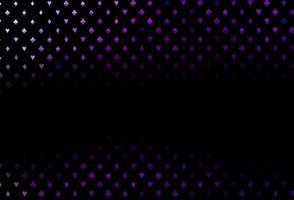 padrão de vetor roxo escuro com símbolo de cartas.