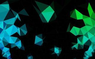 vetor azul escuro e verde brilhante padrão triangular.