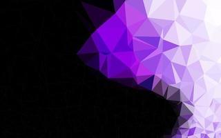 textura de mosaico de triângulo de vetor roxo claro.