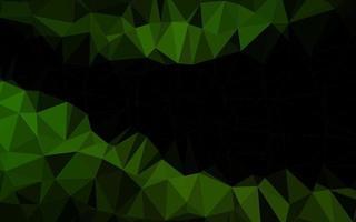 layout poligonal abstrato de vetor verde escuro.