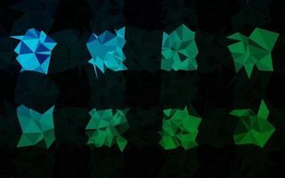 modelo poligonal de vetor azul e verde escuro.