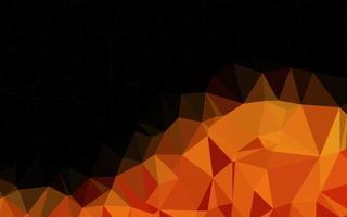 modelo poligonal de vetor laranja claro.