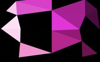 modelo de mosaico de triângulo de vetor rosa claro.